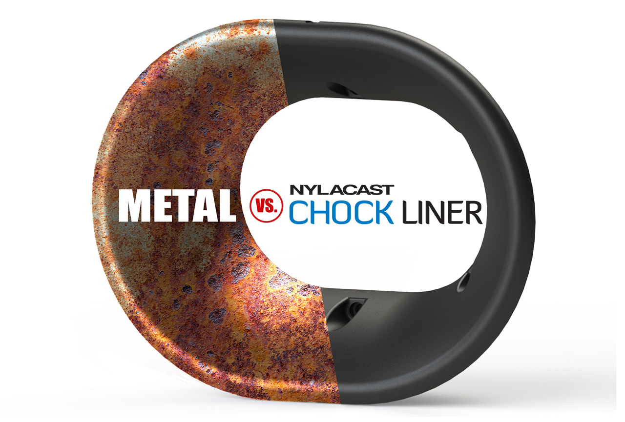 Nylacast Chock Liner vs Metal image